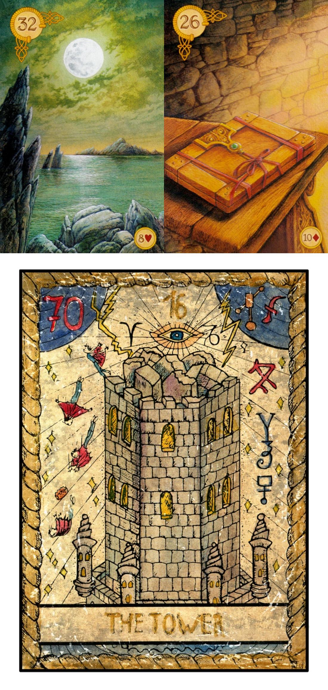 gilded reverie lenormand card meanings, list of tarot card