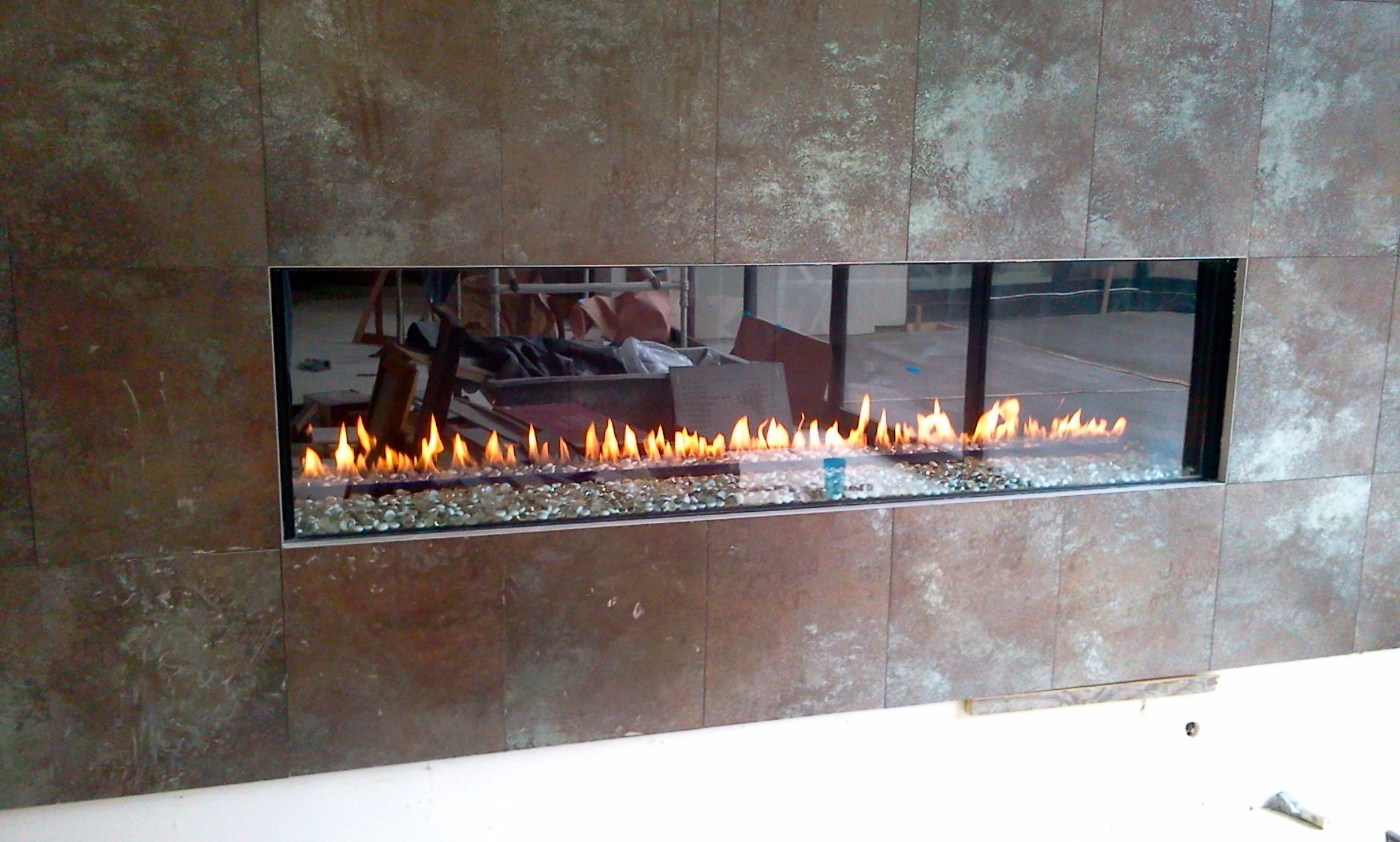 Modern Stone Fireplace Design By The Energy House With Images