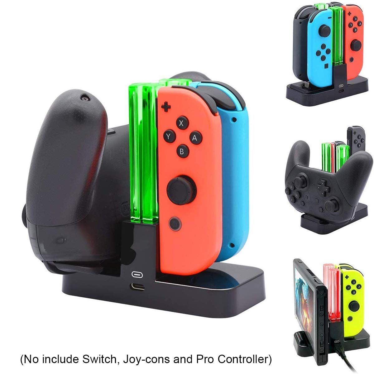 Beastron Controller Charger for Nintendo Switch, Joy-Con and Pro
