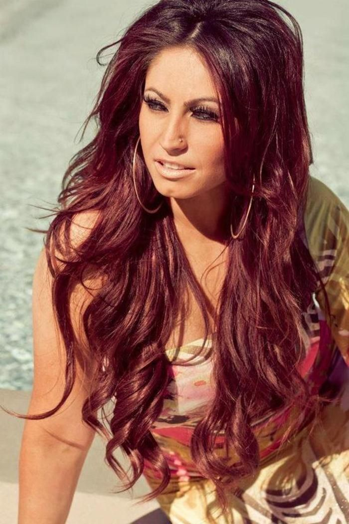 Natural red ombre hair color subtle red highlights like this but not the burgundy colour - Ombre hair marron ...