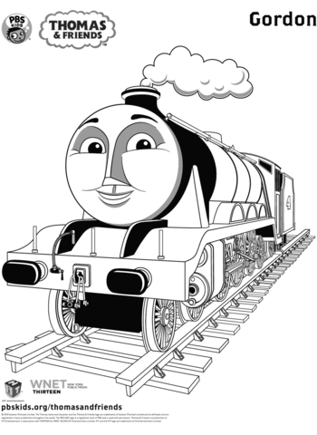 Gordon From Thomas Friends Coloring Page Train Coloring Pages Thomas And Friends Coloring Pages Inspirational