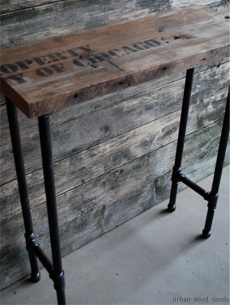 Bar Height Sofa Table For Bar Stools! Urban Wood Goods :: Reclaimed Wood  Furniture In New York And Boston