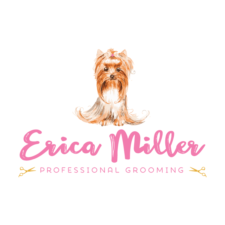Dog Grooming Yorkie Premade Logo Design Customized With Your Business Name Ramble Road Studios Dog Logo Design Premade Logo Design Dog Grooming
