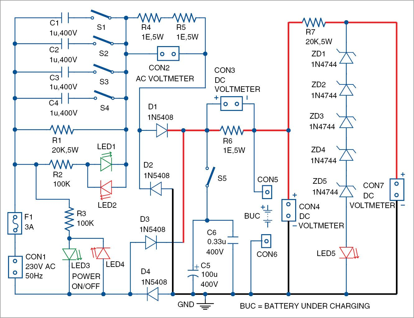 Simple Low Cost And Versatile Battery Charger Diy Pinterest Supply Ucc28600 0 30v 5a Adjustable Smps Circuit Schematic In This Project We Are Going To Build A Ranging From 6v Through 48v For Home