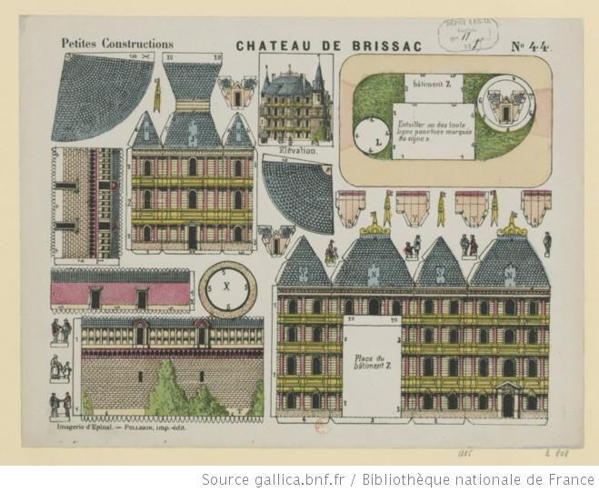 Ch teau de brissac imagerie d 39 epinal pellerin 1885 jouets en papier pinterest papier - Gabarit maison en carton ...