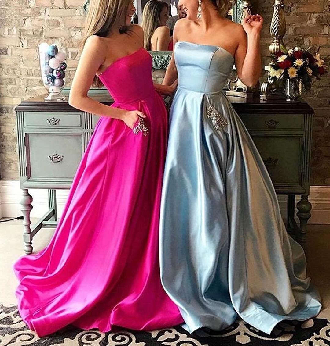 Marsendress 在 instagram 上发布ucbeaded strapless prom dresses