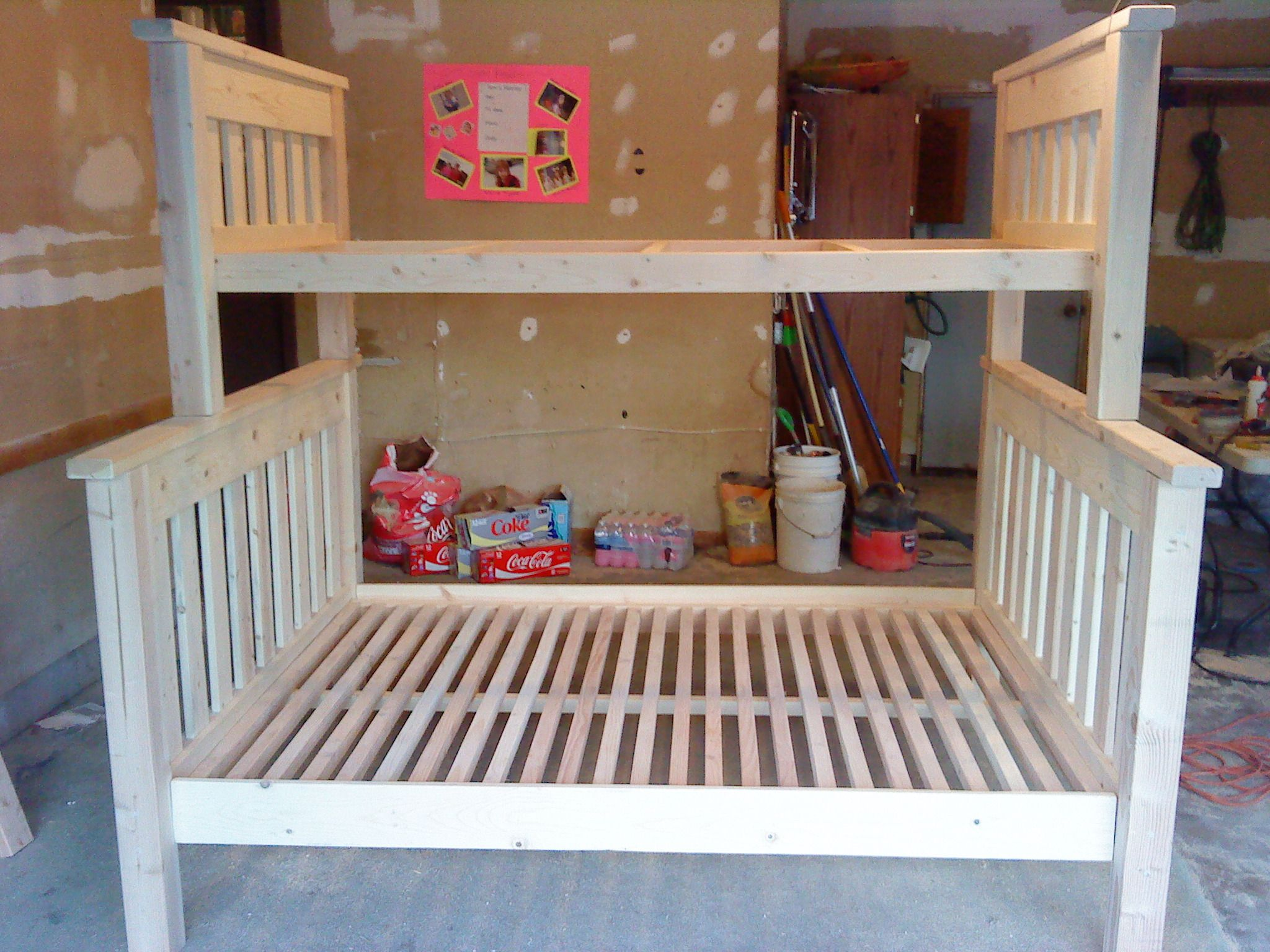 Loft bed plans full size  Use these free bunk bed plans to build the bunk bed your kids have