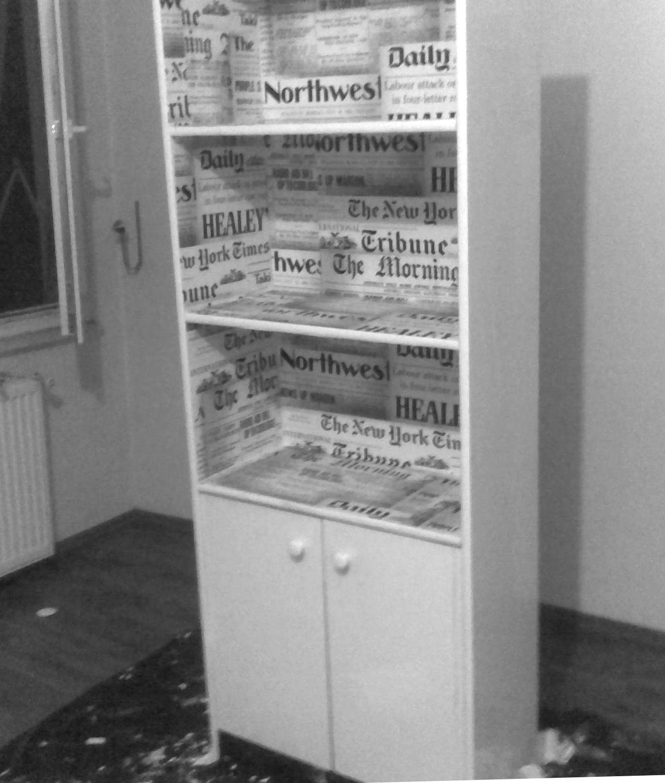 book cabinet renovation: stage 2     - Cennet Karaca 2012