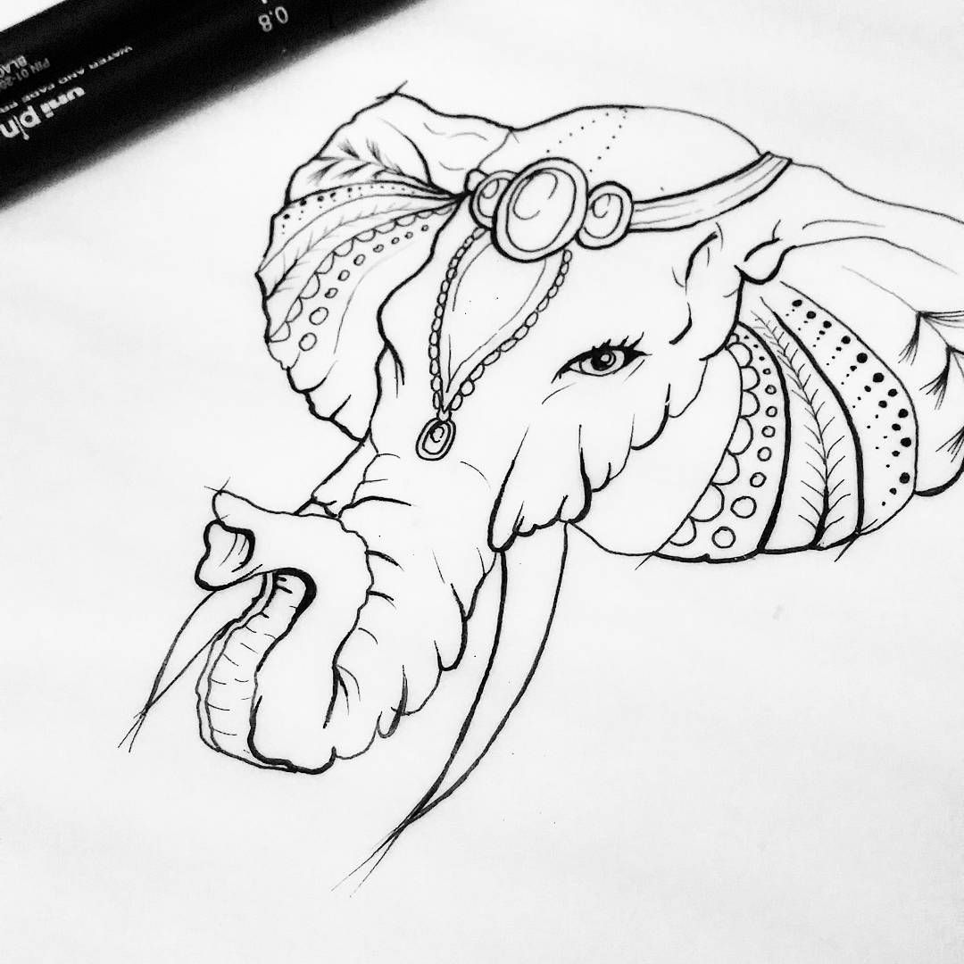 Belleza Hindu Elephant Instapic Tattoo Instachile Chilegram