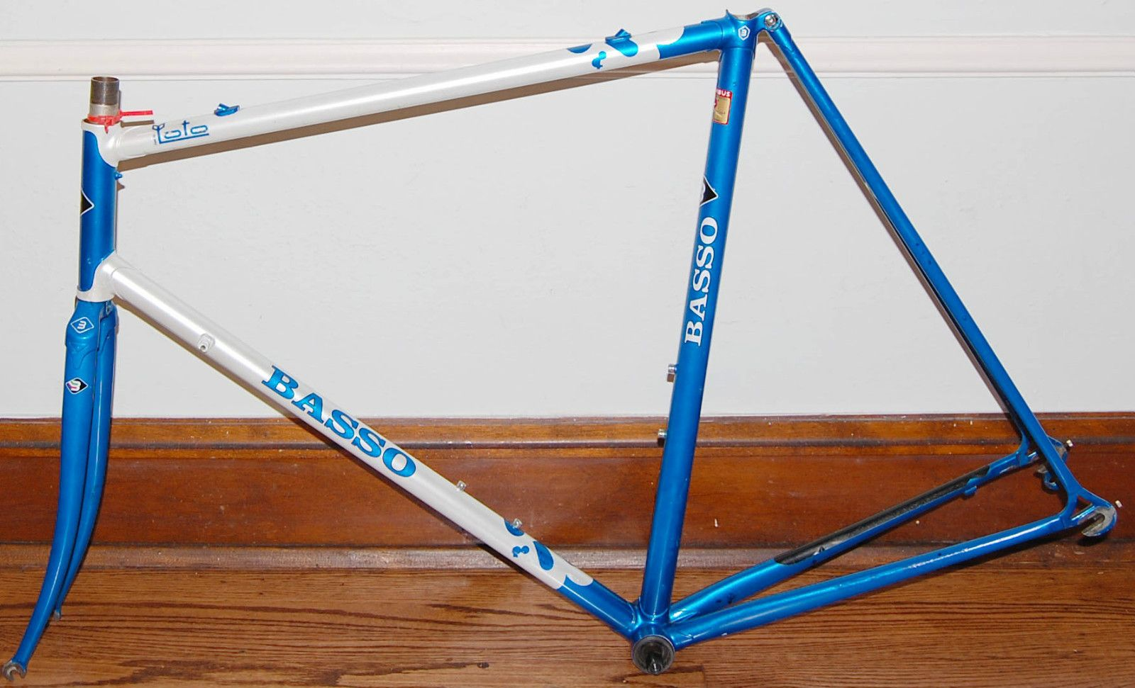 Vintage Basso Loto 59cm Frame Fork Columbus SLX Shimano BB OK4 ...