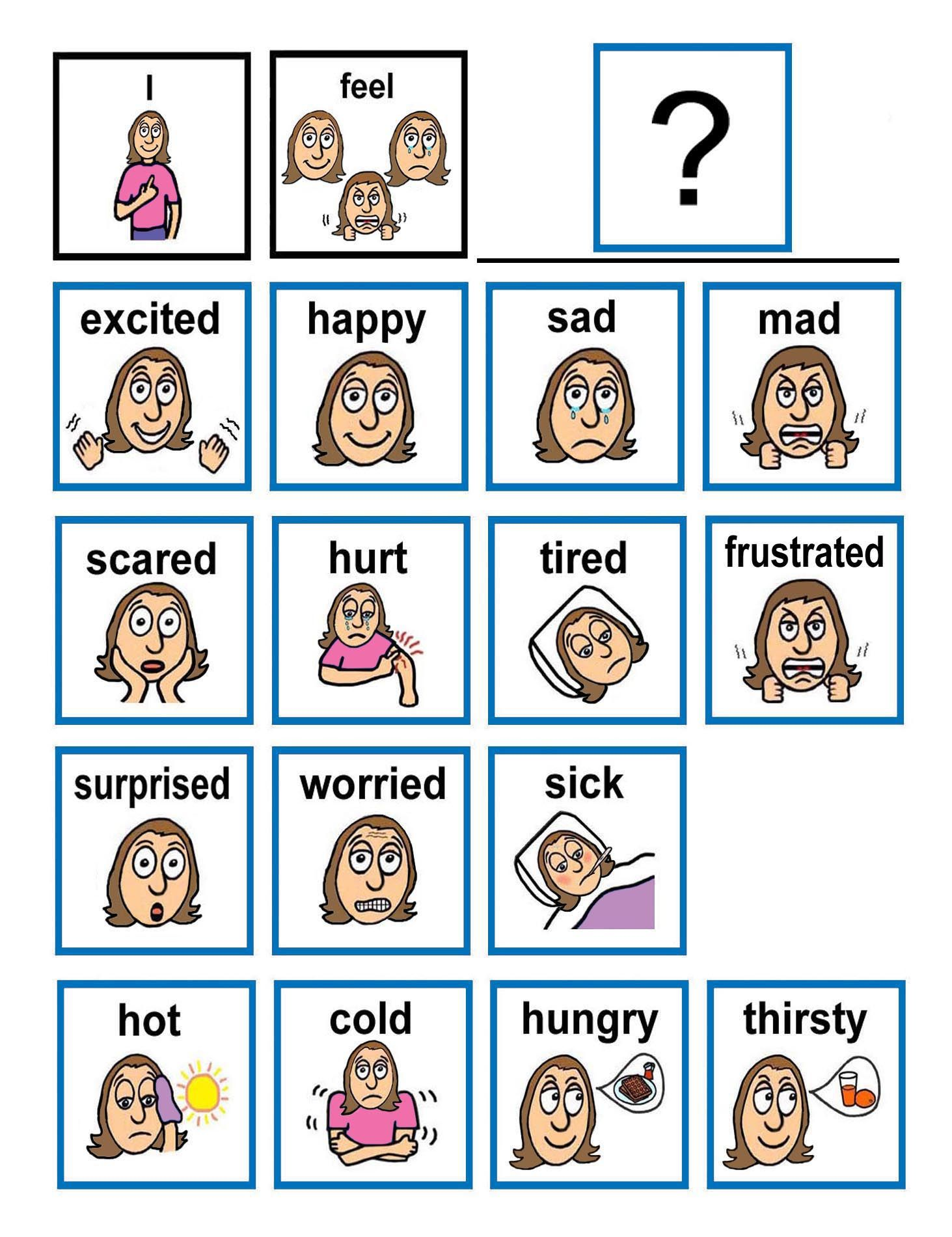 Emotion flash cards Children with autism often have ...