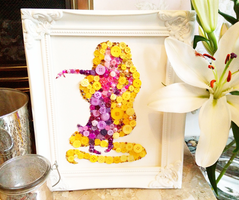 Rapunzel Inspired Button Art Disney Princess Rapunzel Decoration ...