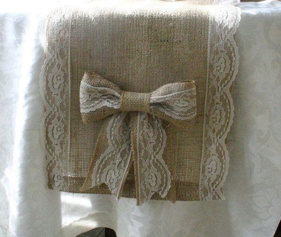 Manualidades con arpillera crochet y puntillas - Manualidades con tela de saco ...