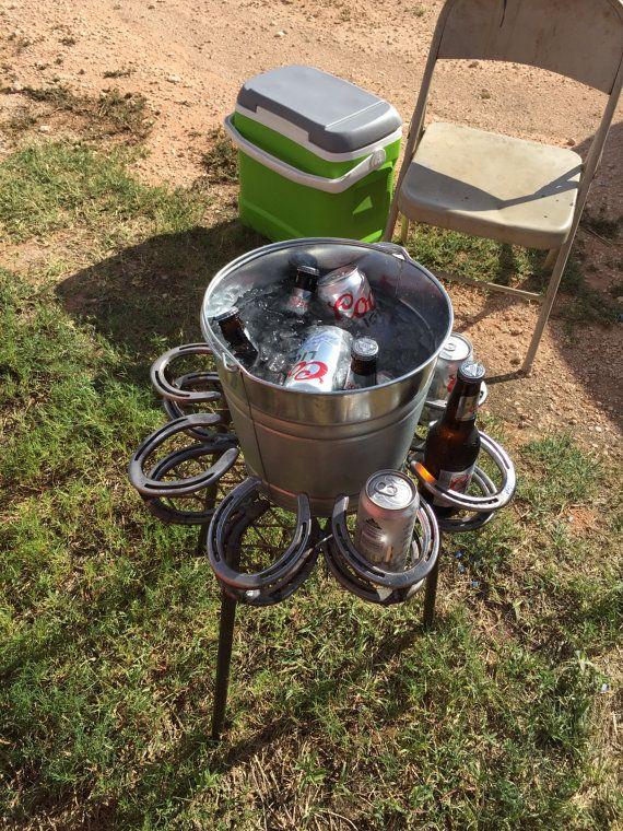 horseshoe drink holder with bucket