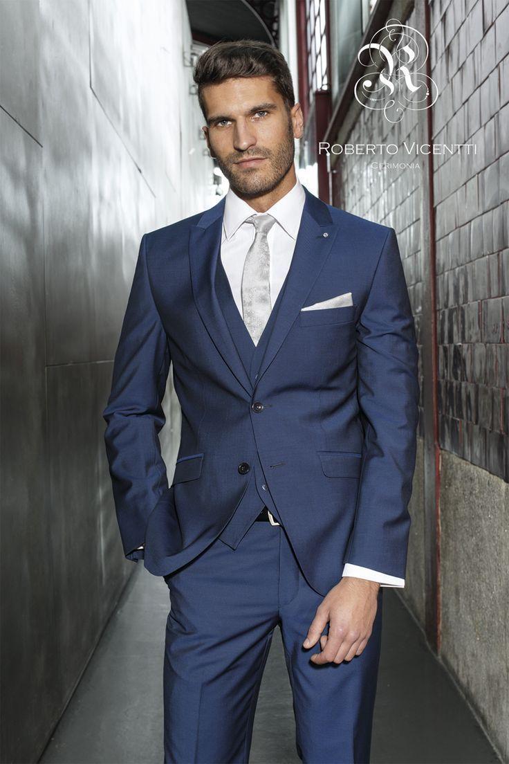 The bride 39 s 2016 new tailored suit men marry a man 39 s suit for Blue suit grey shirt