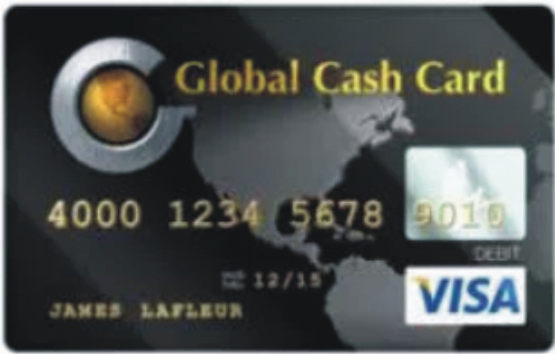 Global cash card prepaid credit cards with images