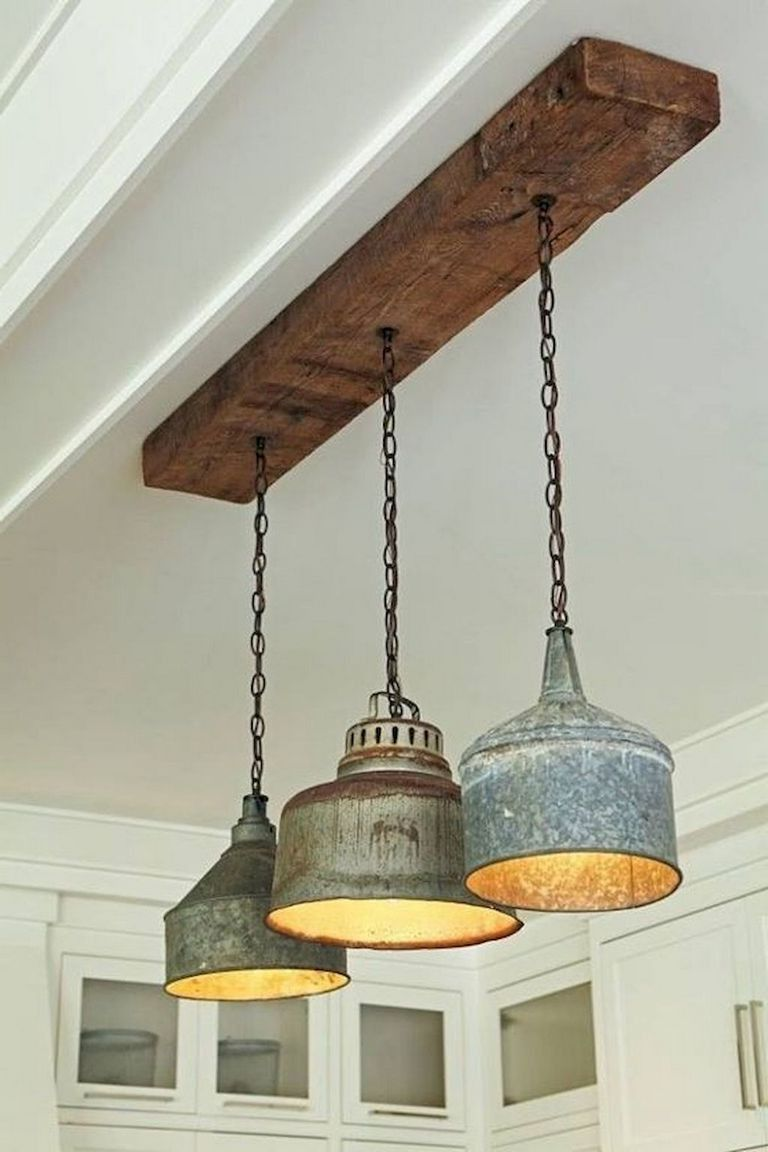 33 Smart And Creative Diy Lamps Decoration Ideas From Recycled Material Rustic Lighting Rustic Light Fixtures Industrial Lighting Bedroom