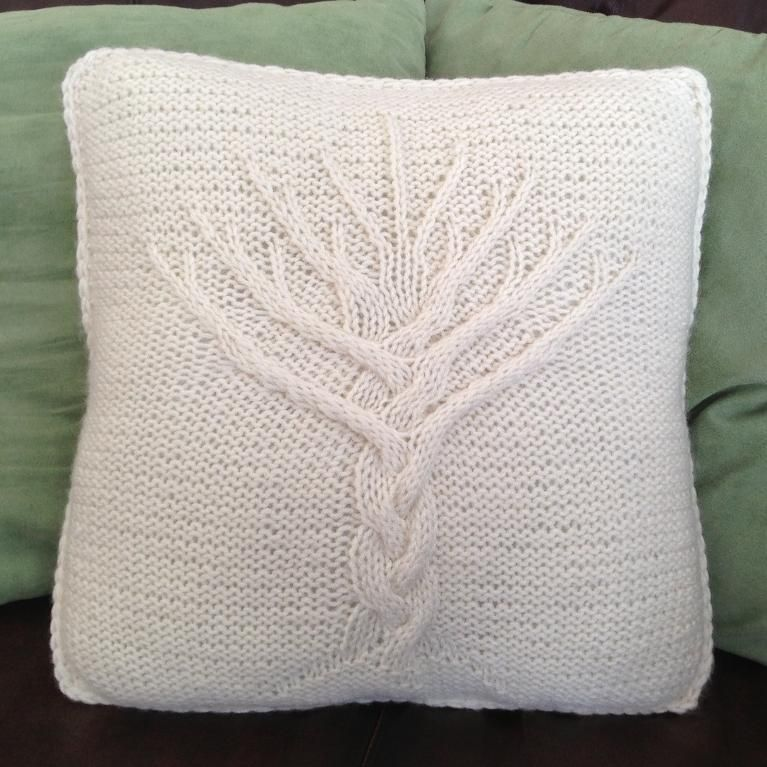 Free Pattern For Cable Knit Pillow Cover: Tree of Life 16 x 16 Pillow Cover   Pillows  Designers and    ,