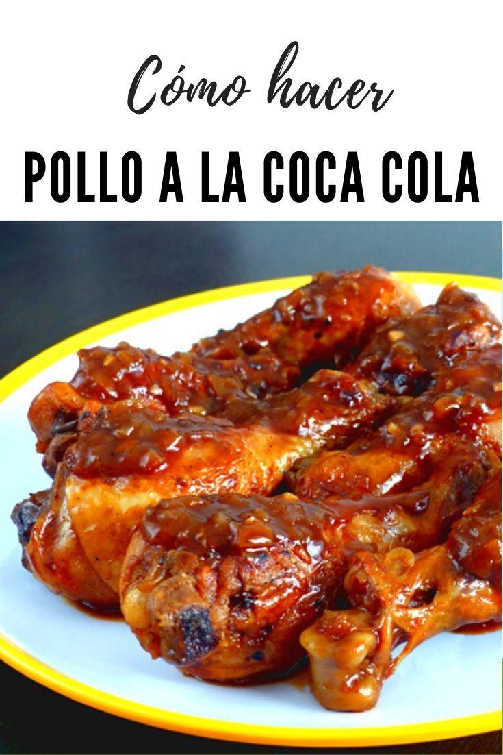 Receta de pollo a la coca cola. La salsa de este pollo es realmente adictiva. Un delicioso plato caramelizado al que pocos logran resistirse. Pero lo mejor de todo, es su sabor, cuando lo comemos y sabemos que el ingrediente estrella es el refresco de cola, lo identificamos inmediatamente, pero esto es más complicado si no sabes cual es el ingrediente estrella, ya que no es habitual cocinar con coca cola.  #pollo #CocaCola