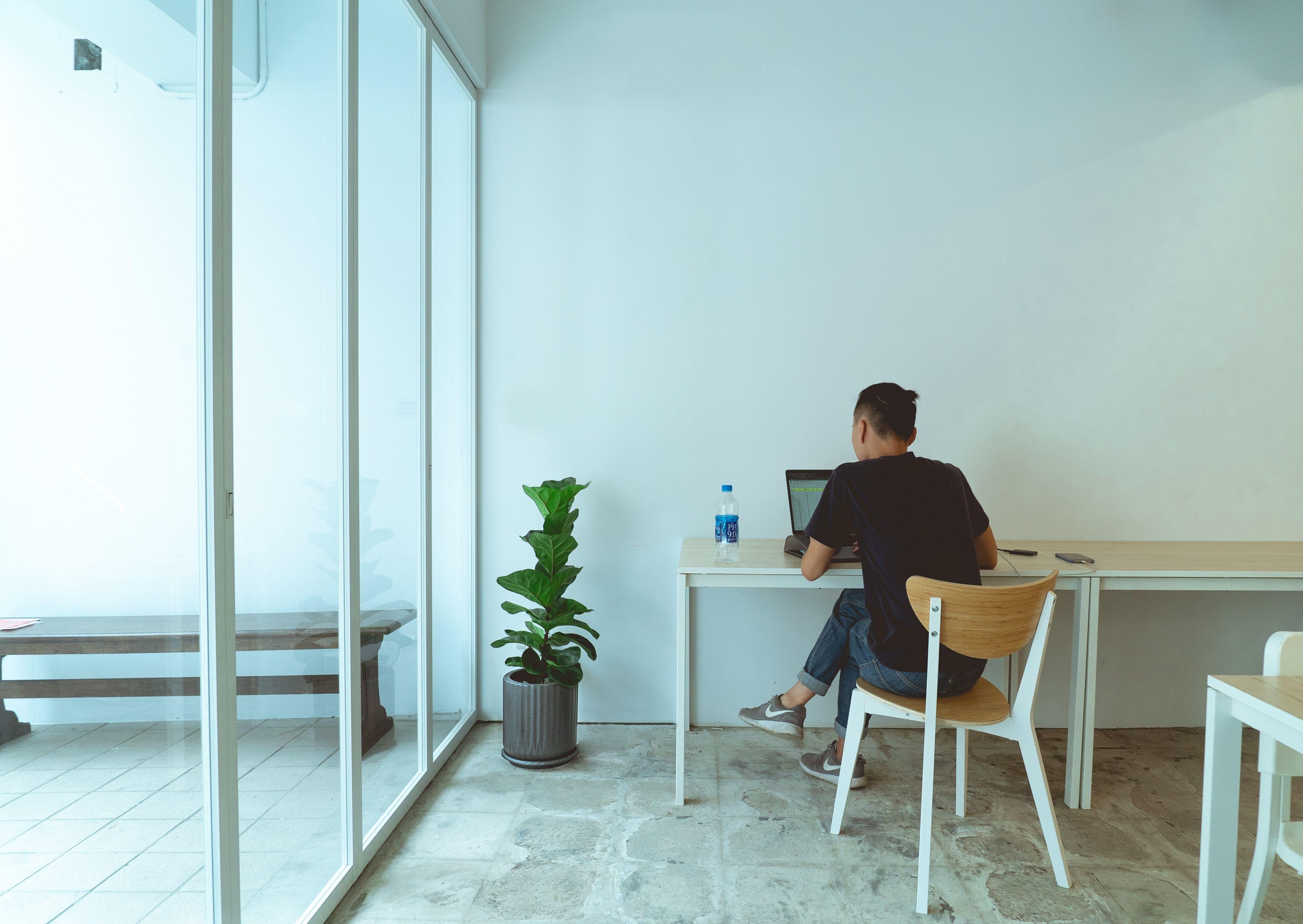 Man on a desk