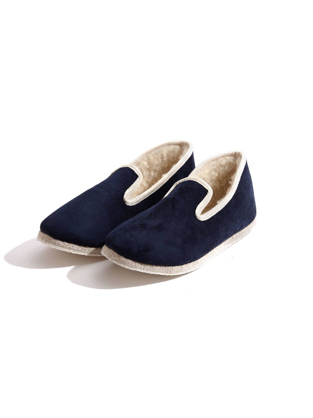 cheap for discount f2f30 8b415 Rondinaud - Charentaise Slippers - Navy | Men's Shoes ...