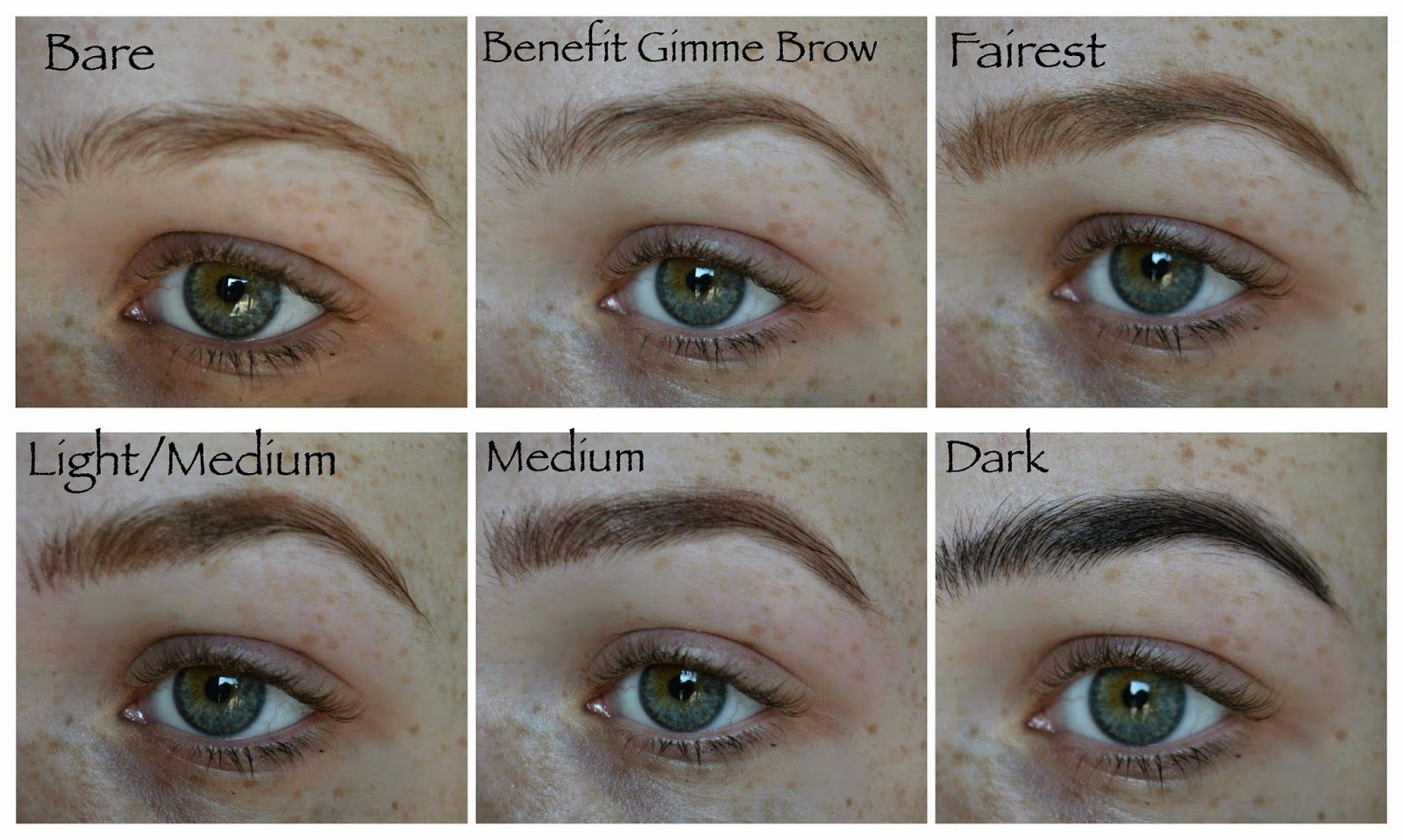 Brow Swatches Of An Entire Line Of Amazing Brow Gel