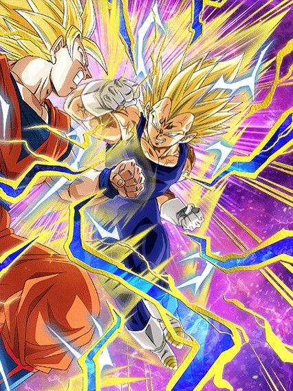 Clash Of Pride Majin Vegeta Dragon Ball Z Dokkan Battle Japanese Version Goku Y Vegeta Peleando Fondo De Pantalla De Anime Personajes De Dragon Ball