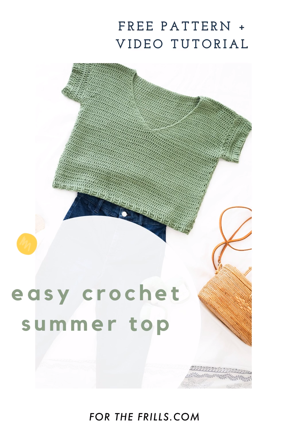 Free Pattern Easy Summer Crochet Top + Video Tutorial