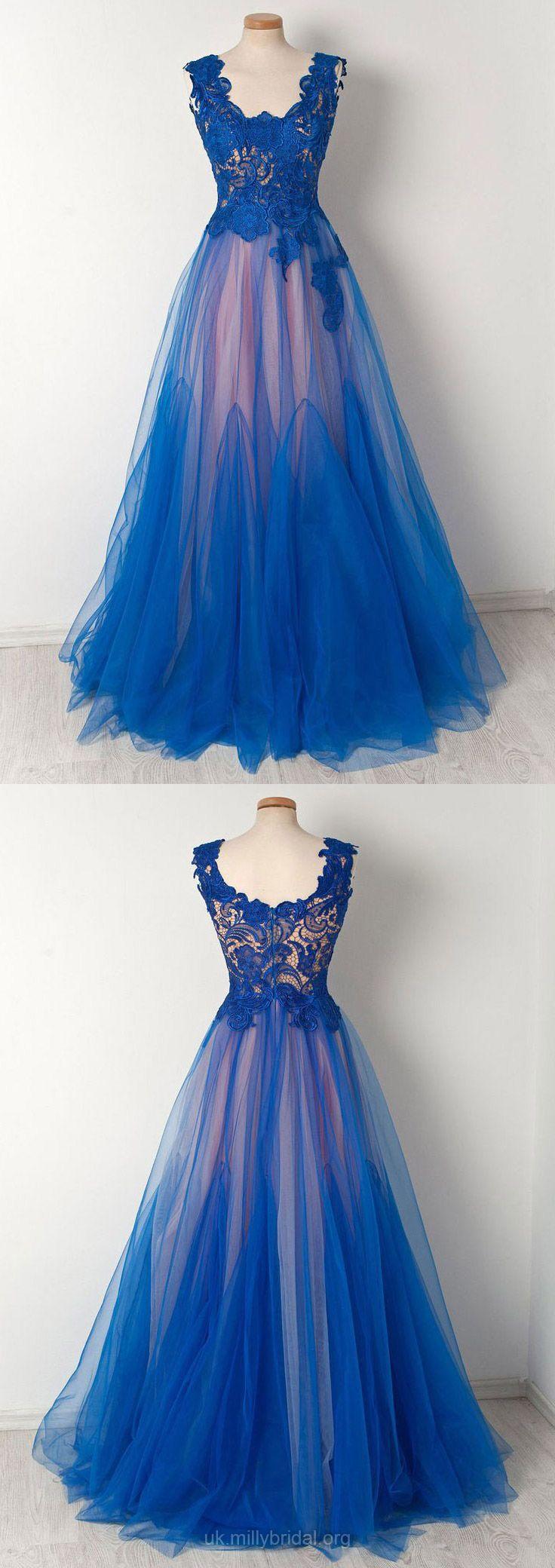 Blue formal dresses long princess prom dresses for teens vintage