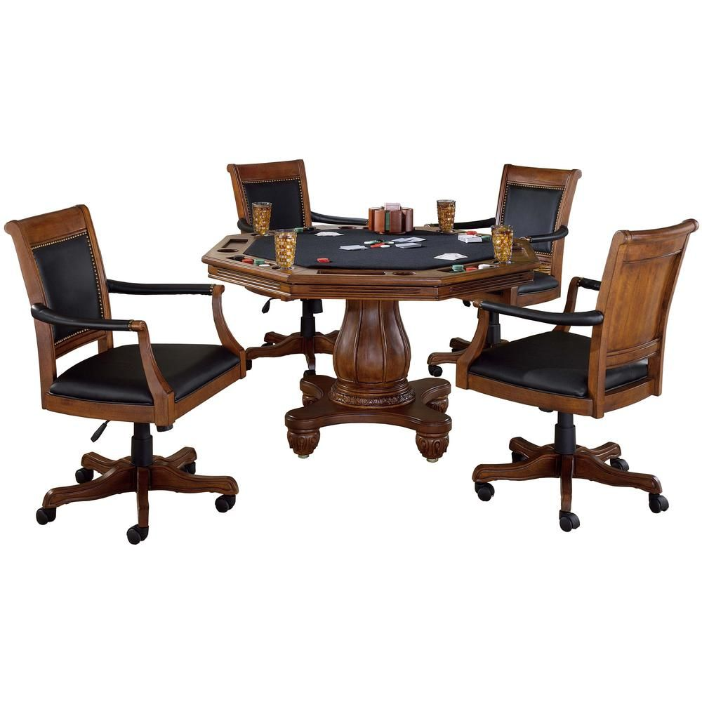 Hillsdale Furniture Kingston 5Piece Cherry Game Table and