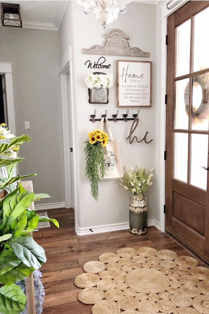 Find gorgeous entryway ideas to get inspired including entryway furniture, storage ideas, entryways with benches and how to arrange your entry table for that wow  factor. #homedecor