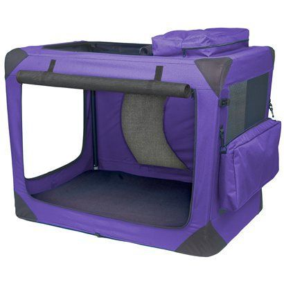 Lavender Deluxe Portable Soft Crate