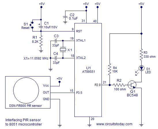 Charmant Pir Sensor Schaltplan Fotos - Elektrische ...