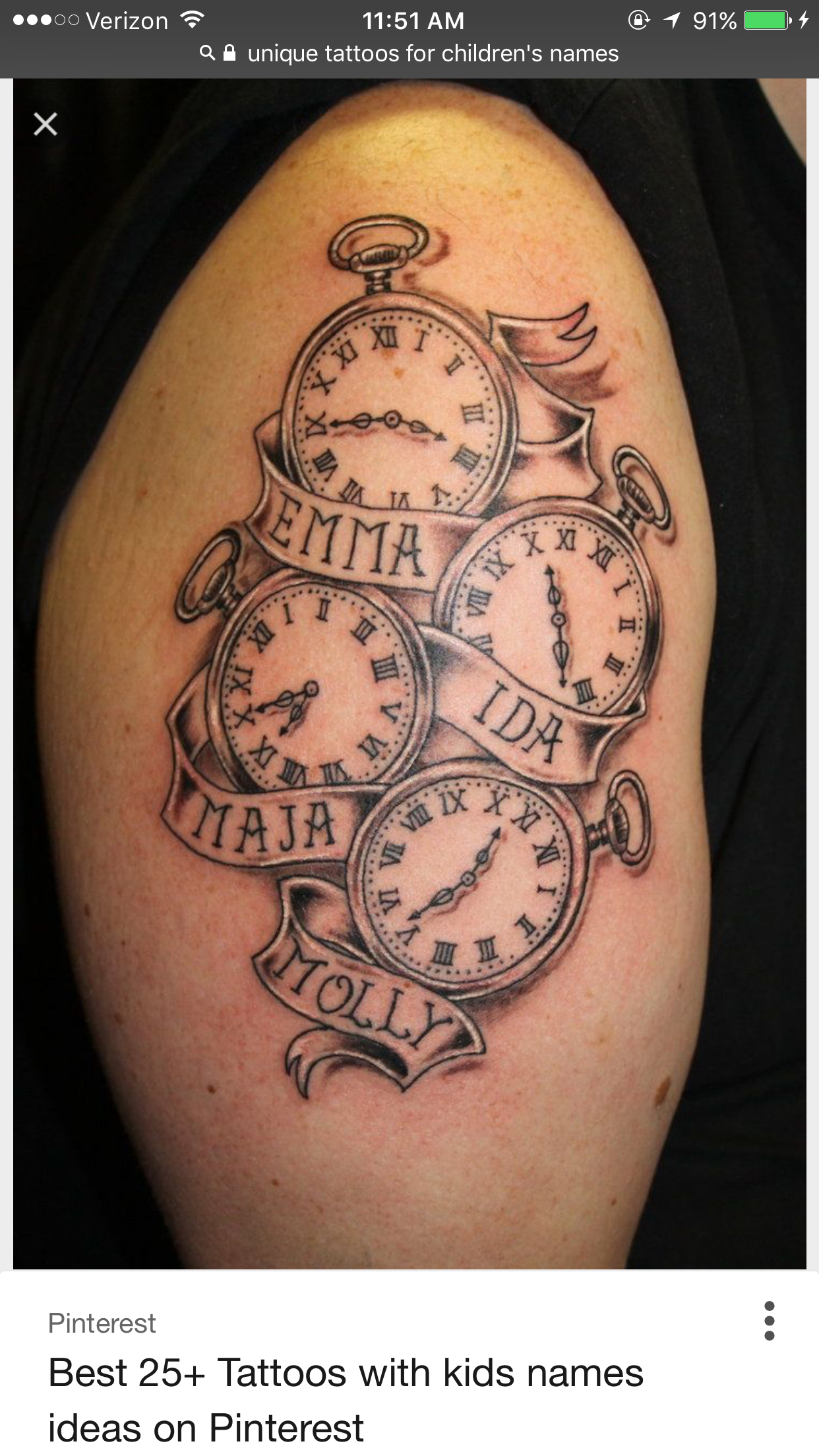 Childrens Names Tattoos For Women: Pin By Hannah Courtney On Tattoos, Maybe Someday