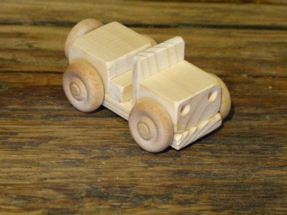 Juguete De Madera Mini Carro Jeep Juguetes De Por Outonalimbadk