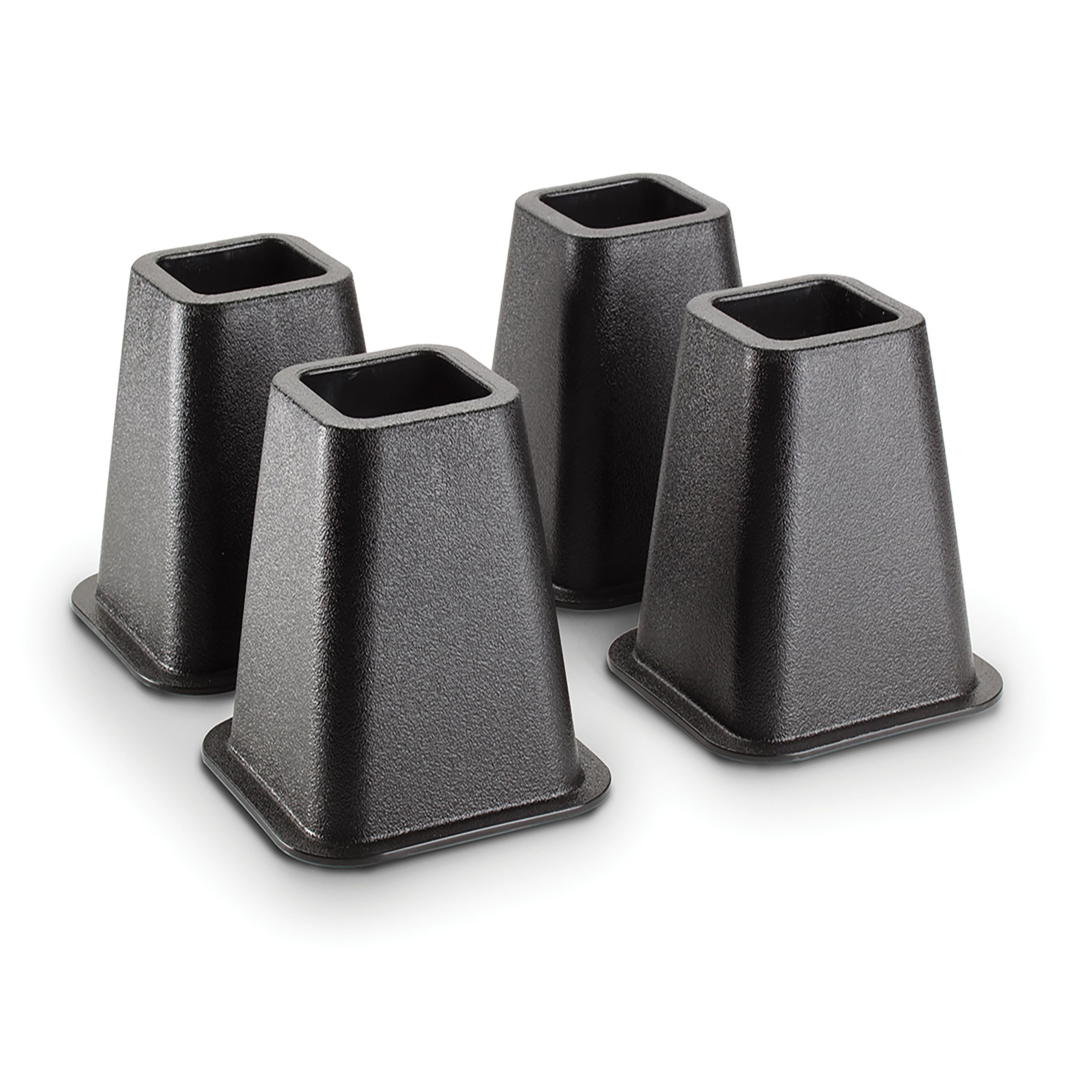 Simplify Kennedy Bed Risers 4 Pack Black 6 Inch
