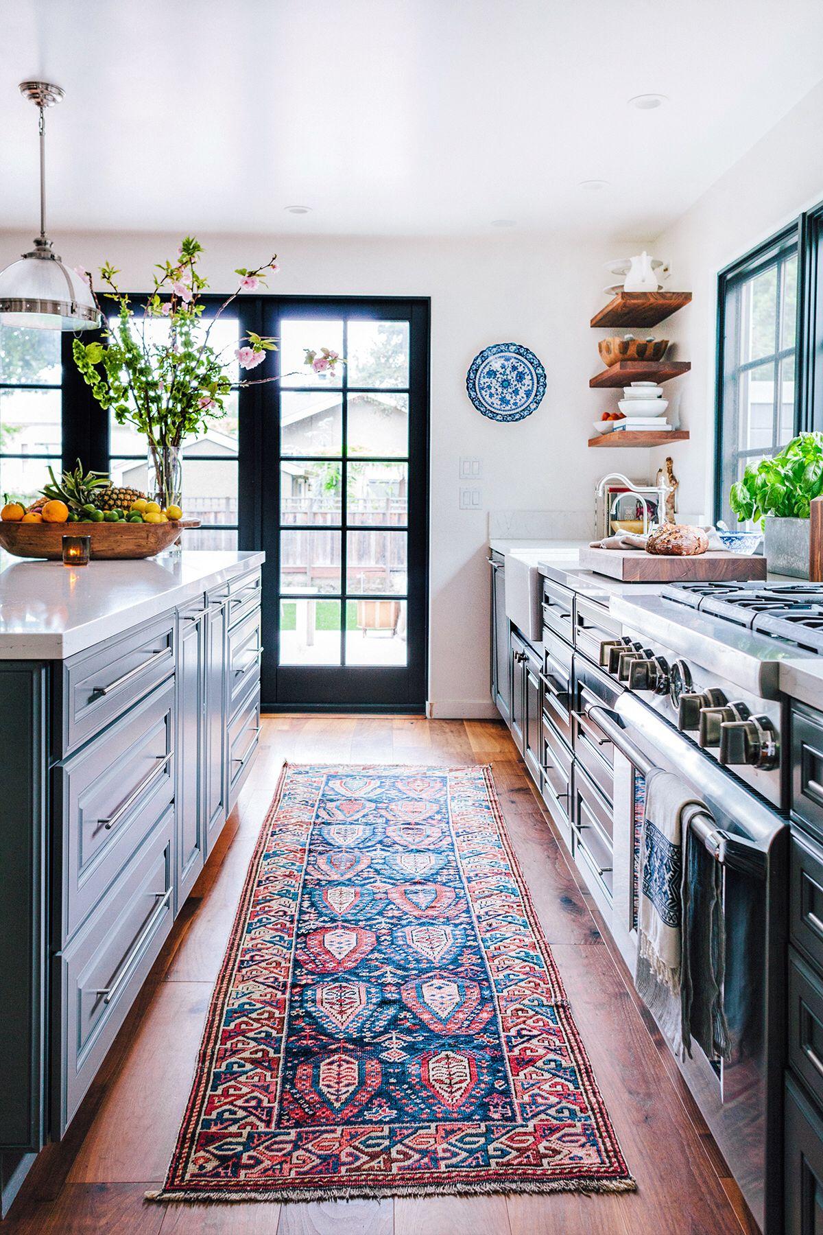Love The Runner Idea  Dreamy Rooms  Pinterest  Future Kitchens Unique Kitchen Runner Rugs Design Inspiration