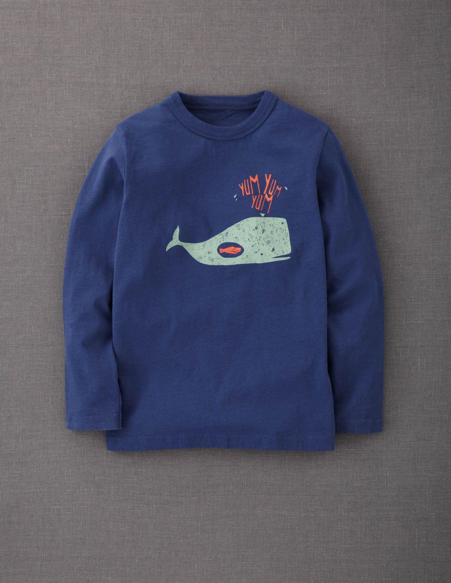 Mini Boden S Logo T Shirt In Cadet Blue Whale Allie Jack