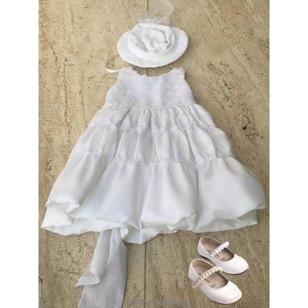 38e129906e9a Οικονομικό σετ βάπτισης κορίτσι με φόρεμα New Life και παπούτσια  Babywalker