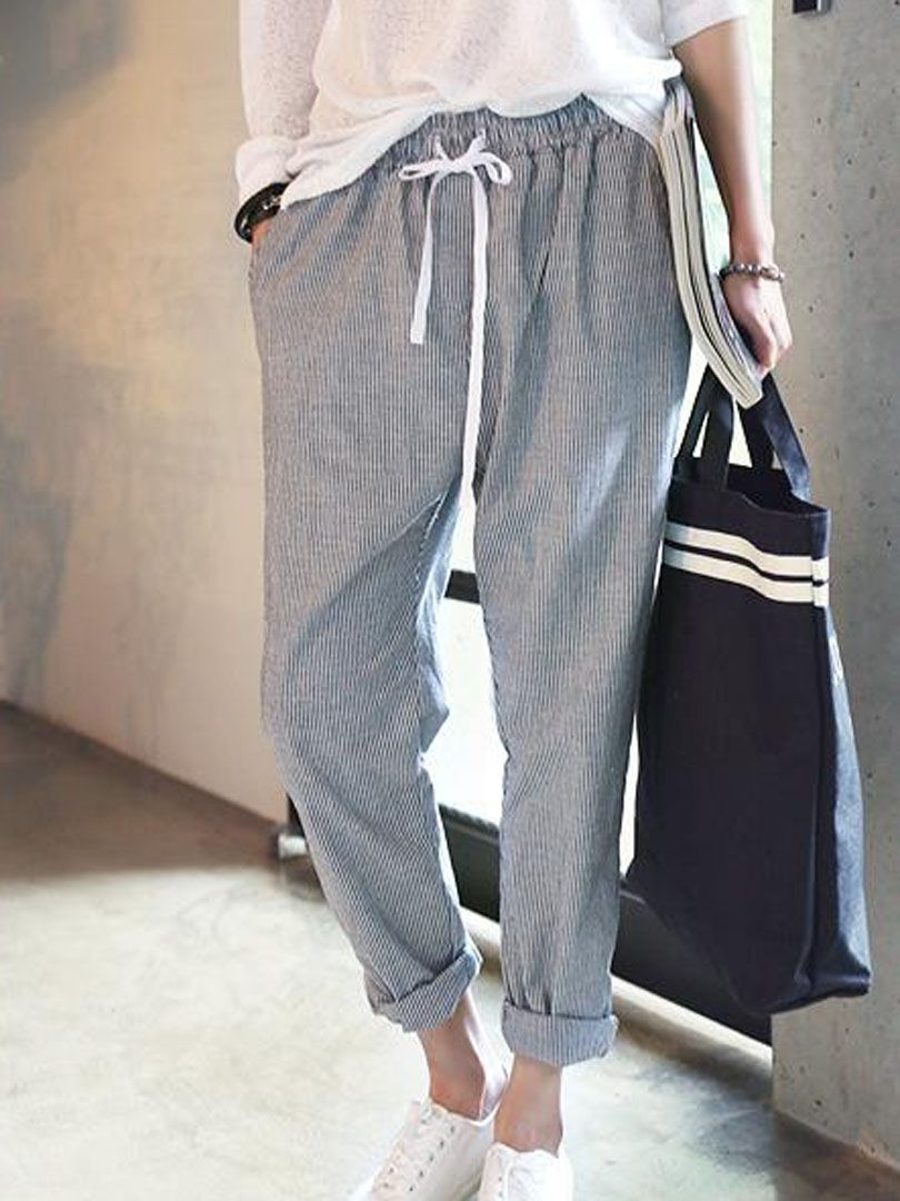 E S L Pantalon Pinterest Basket Large Décontracté Y Chic T HqxI8awnFI