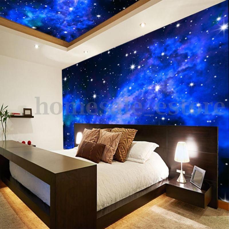 Best Modern 3D Night Clouds Star Wallpaper Bedroom Living Mural 400 x 300
