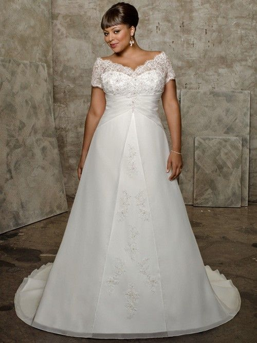 Tulle Sweetheart A Line Plus Size Wedding Dress With Lace Ps136n