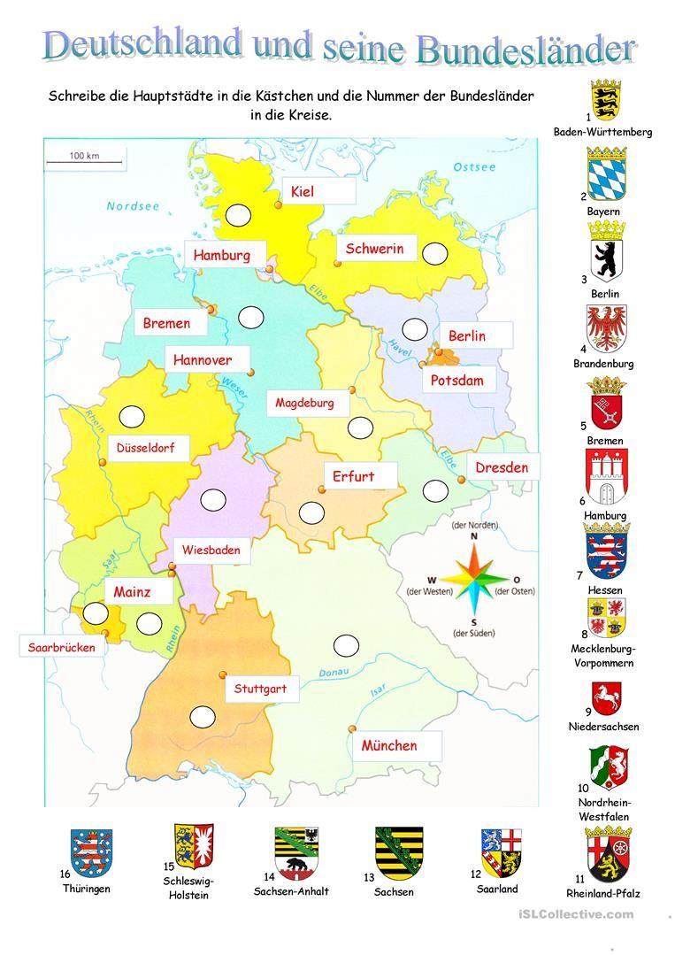 Deutschland Und Seine Bundeslander Learn German German Language