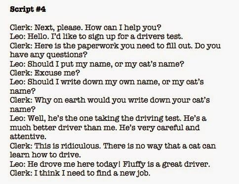 Use short, funny scripts to help readers summarize dialogue ...