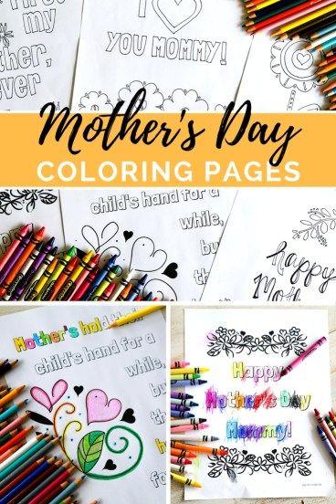 Mother\'s Day Coloring Pages   Madres, Regalos y Día de las madres