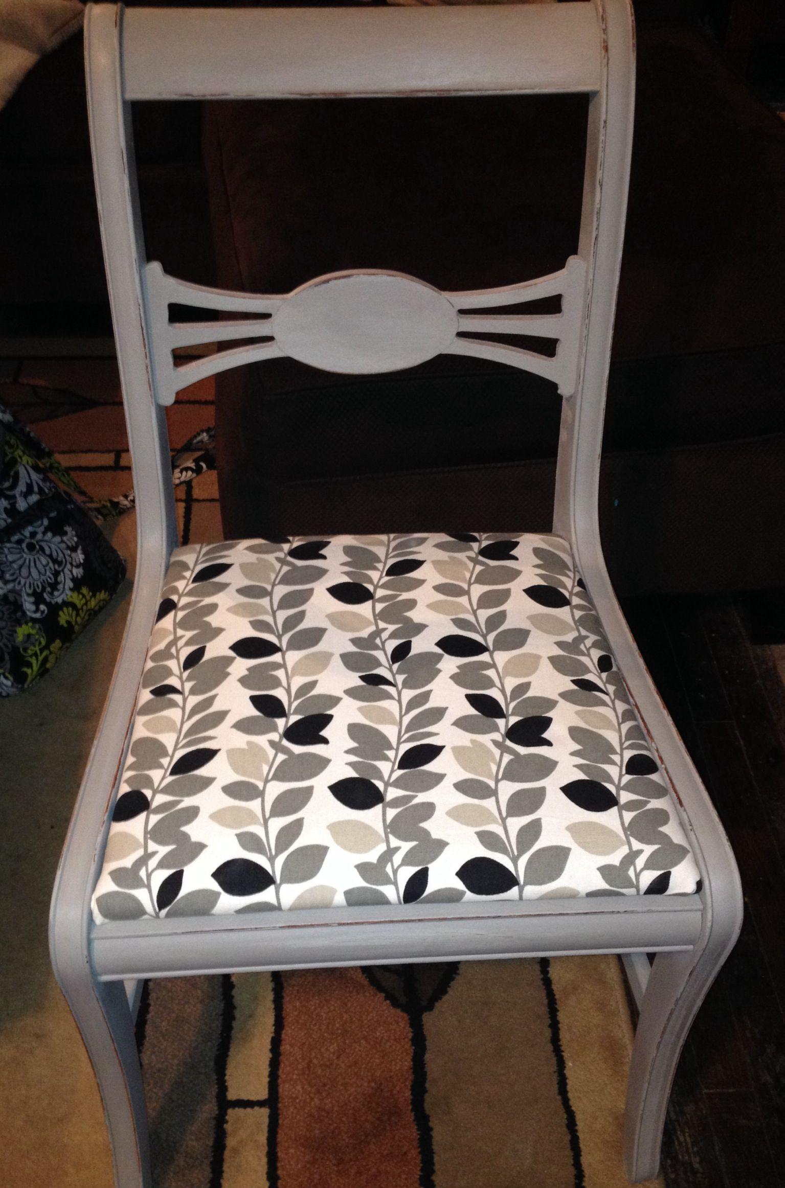 Paris Gray Annie Sloan Painted chair Wooden chair