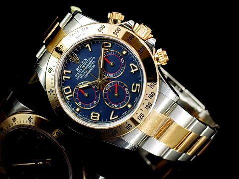 永生名錶珠寶交流中心-ROLEX 勞力士 DAYTONA 迪通拿 116523 宇宙計時型 半金 藍色賽車面盤 計時碼表 亂碼字頭 40mm 錶友珍藏新品