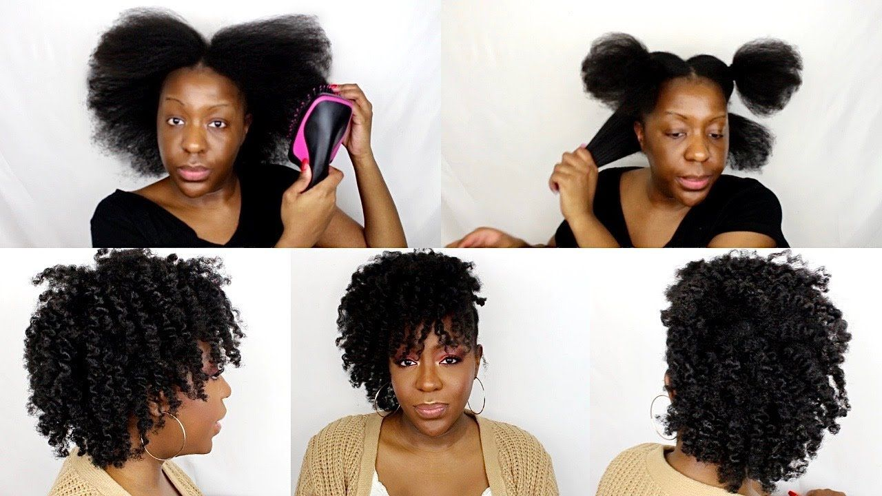 DETAILED BLOWN OUT BANTU KNOT OUT CURLS| 4c hair