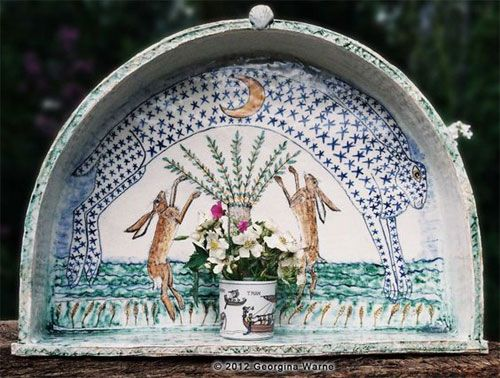 Bunny Art, Pottery Sculpture