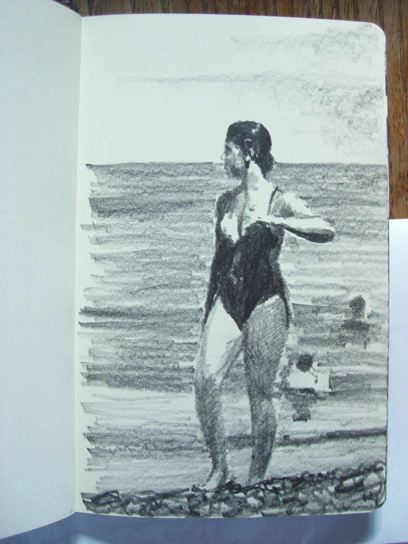 Moleskine 038 graphite pencil drawing sketches - Apprendre a dessiner violetta ...